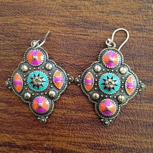 Gorgeous colorful earrings