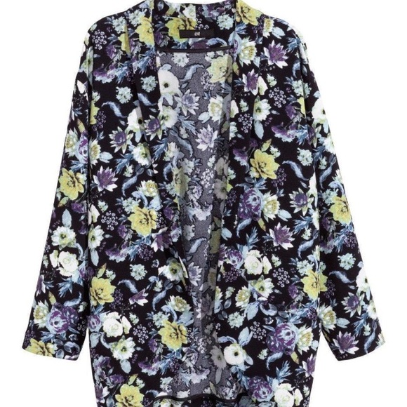 H&m Floral Kimono Cardigan
