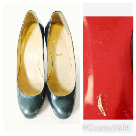 79% off Christian Louboutin Shoes - CHRISTIAN LOUBOUTIN SageGreen ...