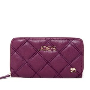 Joe's Jeans | Quilted Purple Zip Wallet