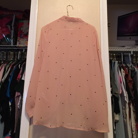 20 Off Forever 21 Tops Light Pink Button Down Long