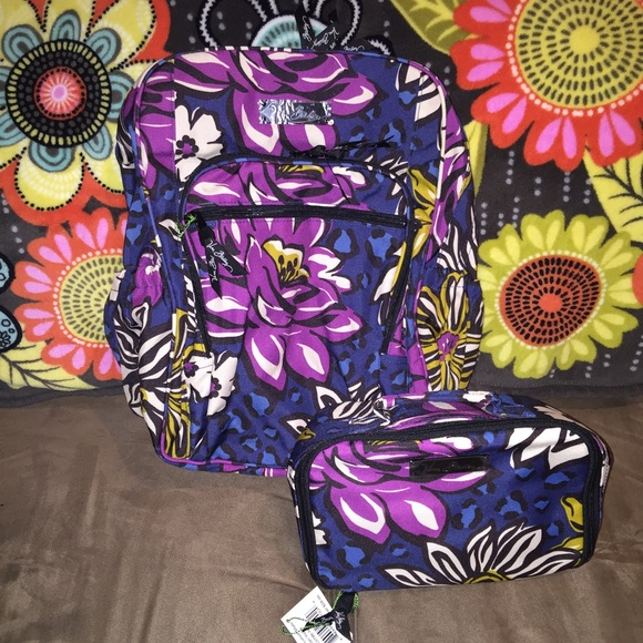 NWT Vera Bradley Backpack And Lunch Box Bundle