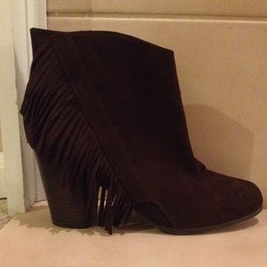 Charlotte Russe Chunky Heel Ankle Booties