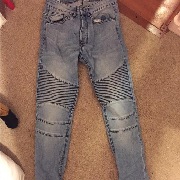 H M Jeans Hm Men Black Tag Skinny Biker Poshmark