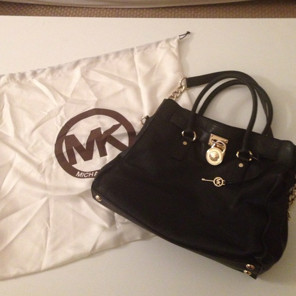 Michael kors bags black and gold