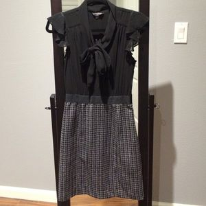 Banana Republic Ruffles and Tweed Dress