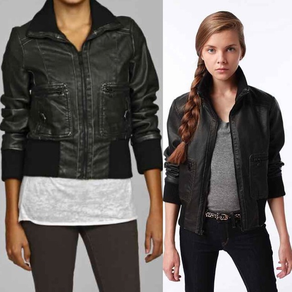 84% off Levi's Jackets & Blazers - Levi's | Ribbed Faux Leather ...