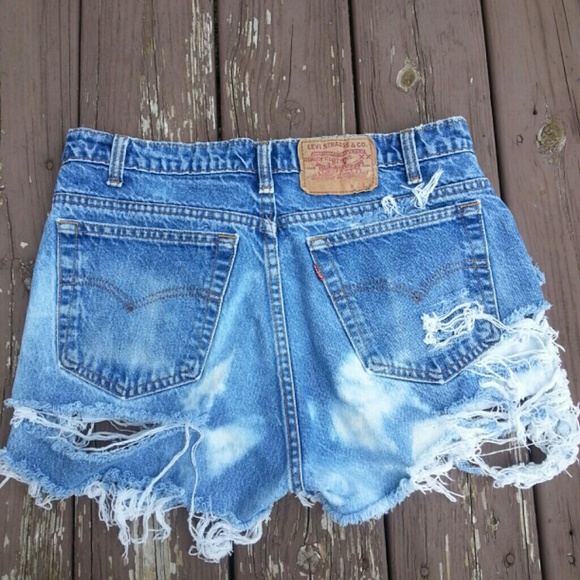 27% off Levi's Denim - Levi Ripped Cover-up Shorts..Made to order ...