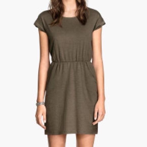 7320c8deb070 H&M Dresses | Hm Short Sleeved Jersey Dress | Poshmark