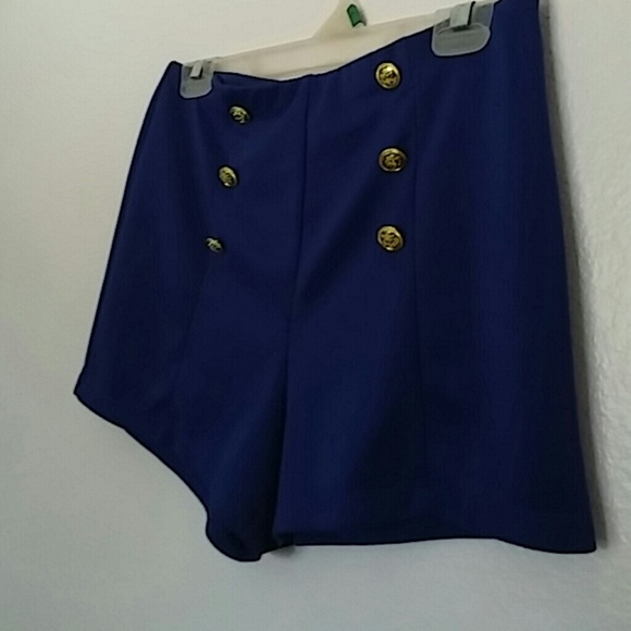 50% off Forever 21 Other - Navy Blue High Waisted Sailor Shorts ...