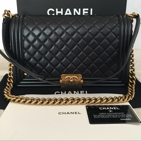 3e453aa851fd CHANEL Bags | Sold Out Authentic Medium Boy In Calfskin | Poshmark