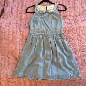 Chambray collared dress