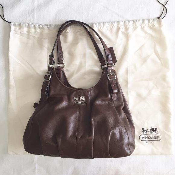 759911fb2a57 Coach Handbags - AUTHENTIC COACH MADISON MAGGIE BROWN SHOULDER BAG