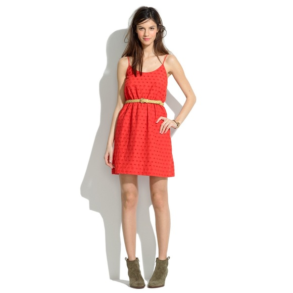 e279be7461b Madewell Dresses   Skirts - madewell    eyelet tank dress • coral