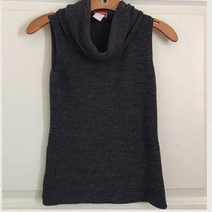 Gray Cowl-neck Top