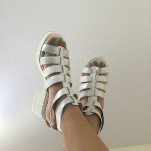 Asos Clear/Silver Sandals