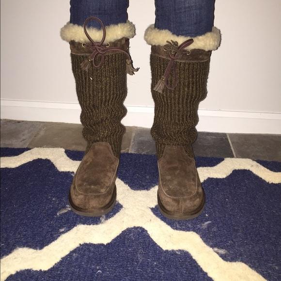 96a699a88fa Tall Suburb crochet Ugg boots