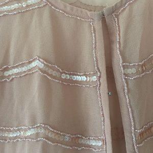 Forever 21 Jackets & Coats - Girly light pink sequined short sleeve jacket!