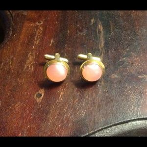 Vintage Pink Gold Cuff Links