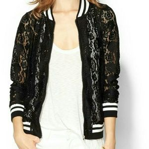 Piperlime Jackets & Blazers - Piperlime lace varsity jacket