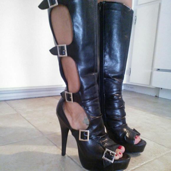 Sexy Peep Toe Boots   Poshmark