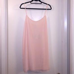 ASOS pale peach spaghetti strap mini dress