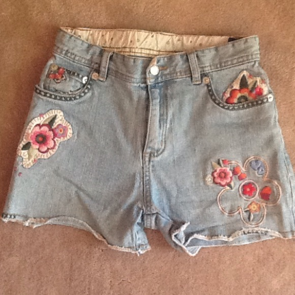 6951c4155e Children's Place. Bottoms | Childrens Place Embroidered Denim Shorts ...