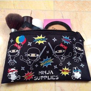 NWT Ninja supplies makeup bag/pencil pouch