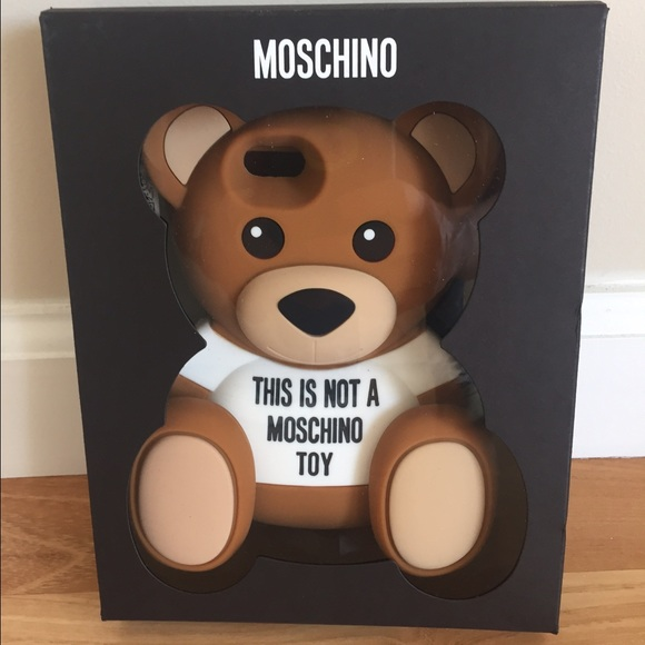 brand new e16fa 3b013 Moschino 'Not a Toy' Bear iPhone 6 case NWT