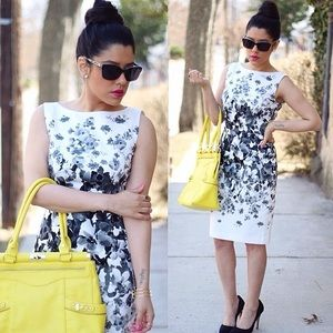 Maggy London Dresses & Skirts - Black & White Floral Dress