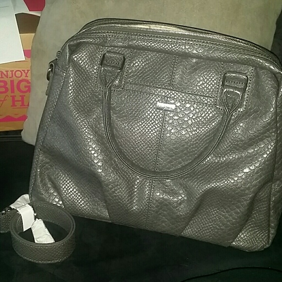 Thirty One Bags Couture Street City Charcoal Snake Bag