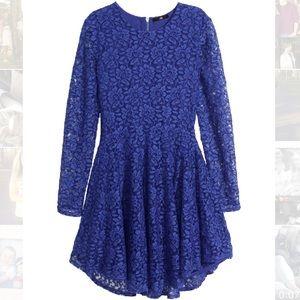 H&M Dresses & Skirts - Blue lace dress
