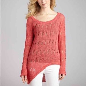Isabel Lu | Coral Asymmetrical Sweater