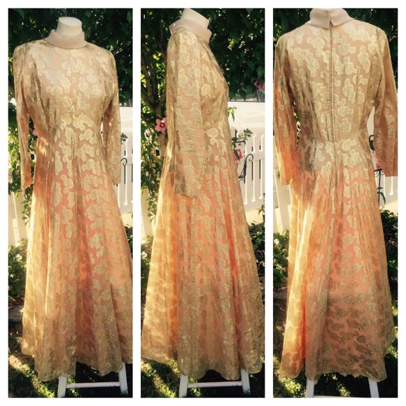gold vintage and dress lame Pink