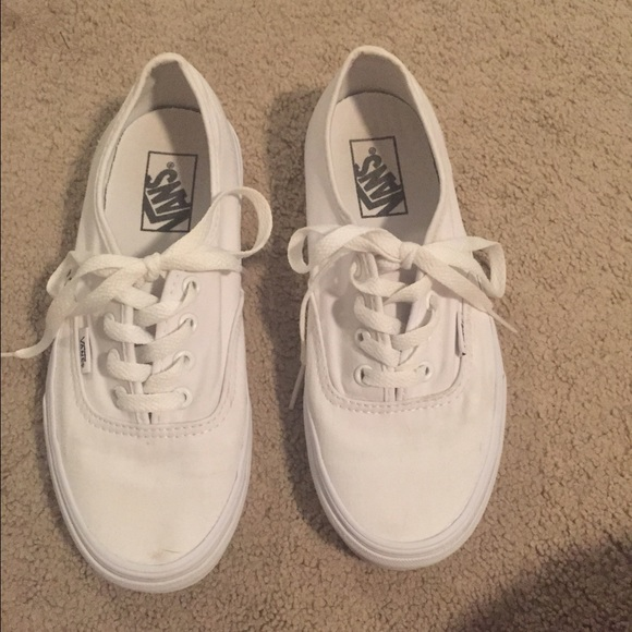 Vans Shoes | White Vans Authentic Style