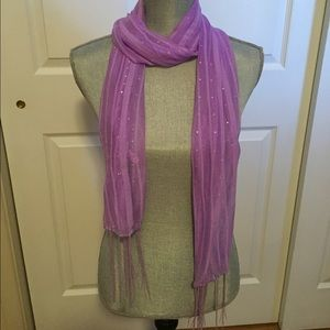 ✨Lovely, Sparkly Light Purple Scarf w/ Sequins-NWT