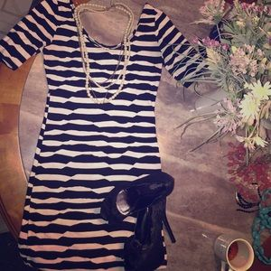 Black & White Striped Dress