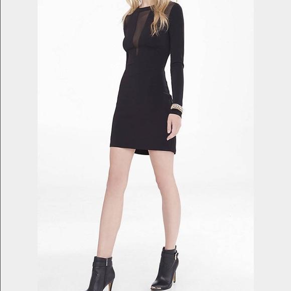 Express Dresses Black Dress With Mesh Cutouts Poshmark