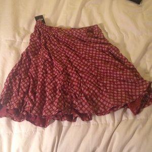 Blood orange skirt