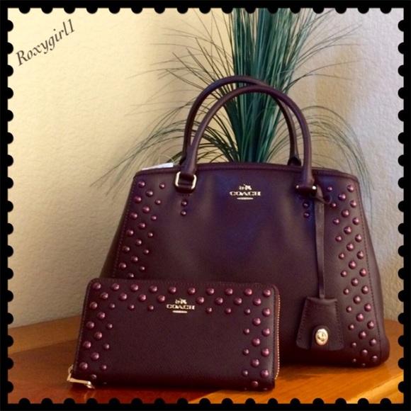 1cb96874cb0 Coach Bags   Amazing Studded Margot Carryall Wallet Set   Poshmark