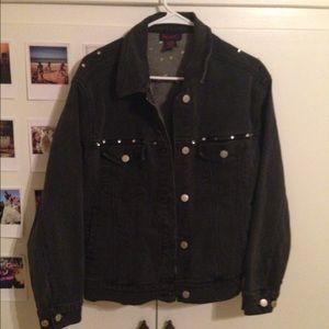 90's faded black jean jacket