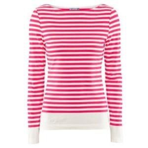 H&M Tops - H&M Pink White Stripe Long Sleeve Top