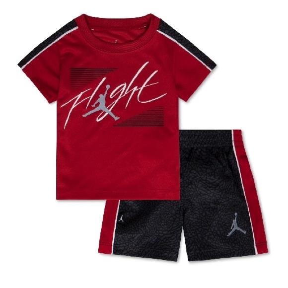 f2c8b7543bb079 Jordan Baby Boys Tee   Shorts Set