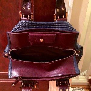 "Be & D Bags - Be & D Blue ""Charlize"" Satchel Handbag"