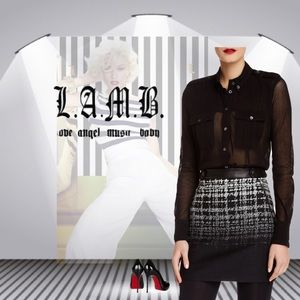 L.A.M.B. Tops - 🌺L.A.M.B.🌺 Cotton Tulle Military Blouse