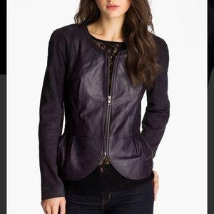 NEW Nordstrom Hinge genuine leather suede jacket M