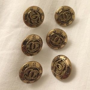 Authentic Chanel vintage gold buttons