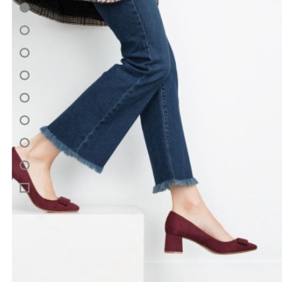 c7309a023b9 Zara Medium Heel with Bow. M 56054dcef739bc36280003fa