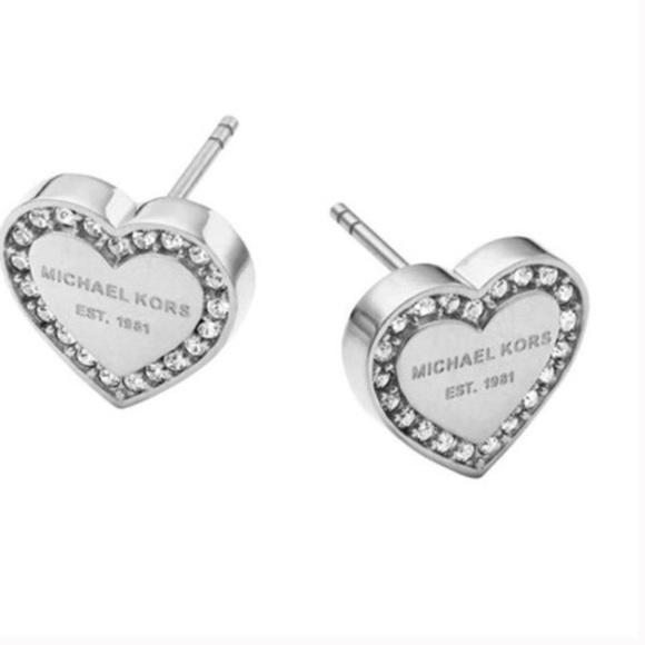 55e37e57f Michael Kors Jewelry | Heart Shaped Stud Earrings | Poshmark