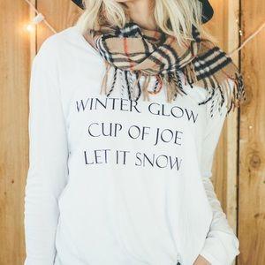 American Apparel Tops - NWOT: Winter Things Shirt